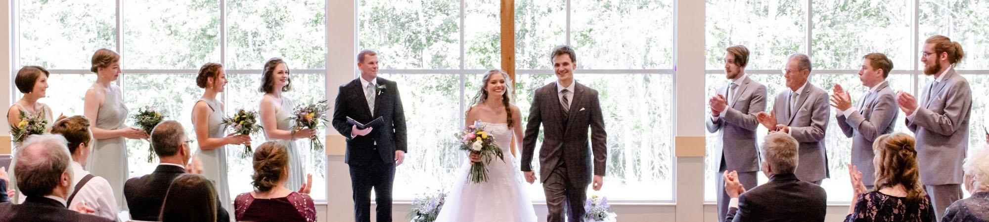 Braham Center Wedding Photographs of Receptions.